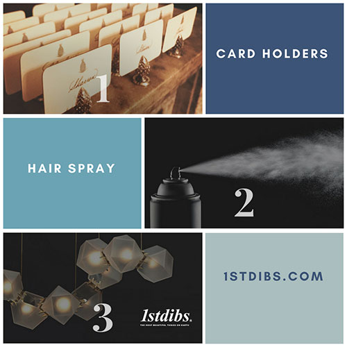 Click to view: Place Card Holders | Hairspray | 1stDibs.com Website